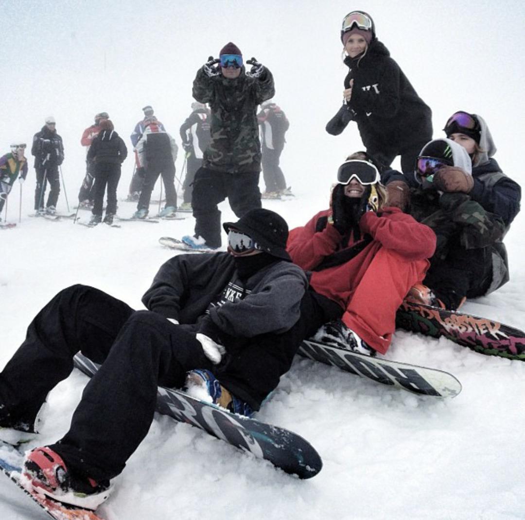 voyage au ski dans le yearbook